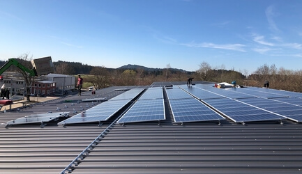 Construction of the photovoltaic system