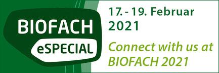 BioFach eSpecial 2021 - we take part