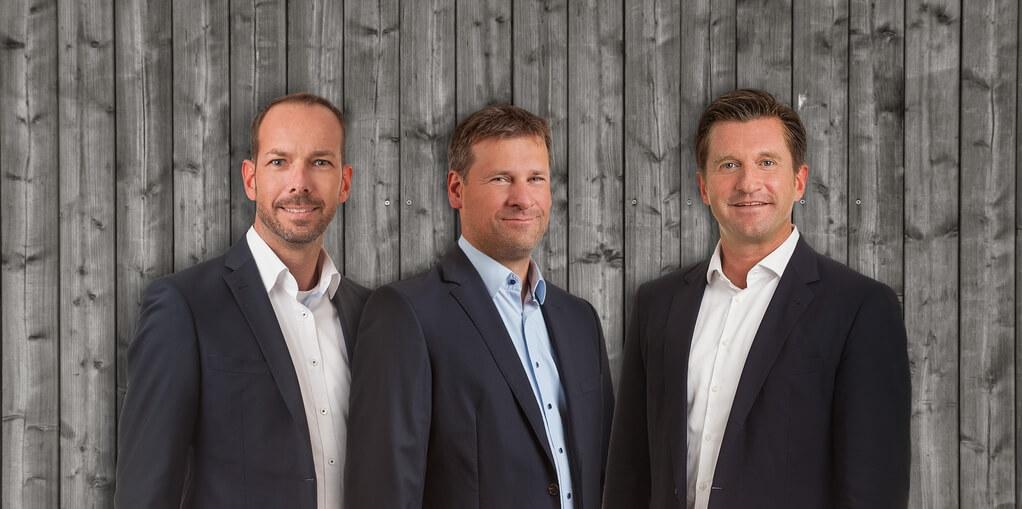 Von links nach rechts: Andreas Kellner (Prokurist), Christian Übelhör (Geschäftsführender Gesellschafter),Marc Netten (Geschäftsführender Gesellschafter)