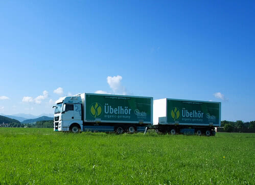 Bio Rohstoffe LKW Naturkost Uebelhoer