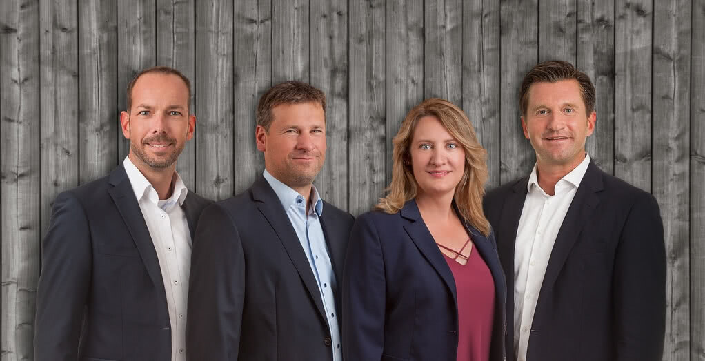 From left to right: Andreas Kellner (Authorised Representative), Christian Übelhör (Managing Partner),  Stefanie Übelhör (Authorised Representative), Marc Netten (Authorised Representative)